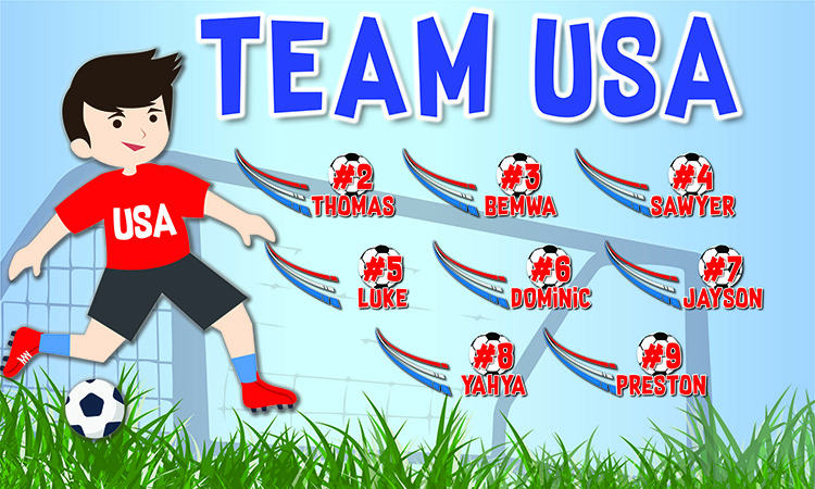 Sport Team Banner 3x6 & Trophy Package